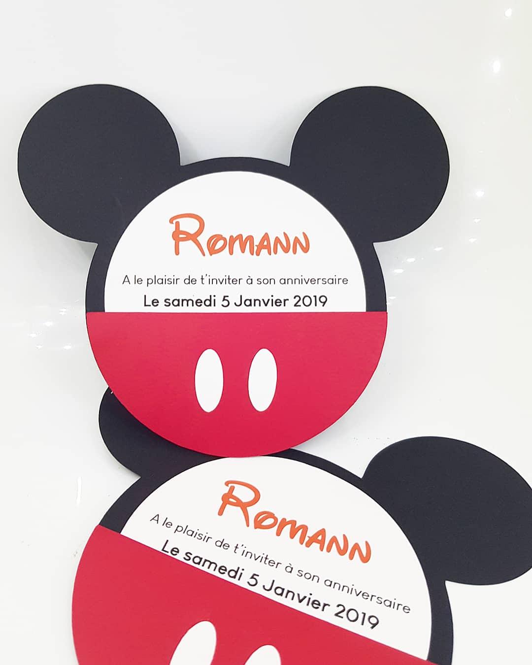 Carte Anniversaire Mickey.Carte Anniversaire Mickey