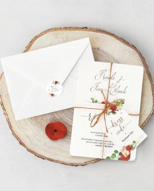 faire-part-mariage-rustique-chic-fleurs-rouge