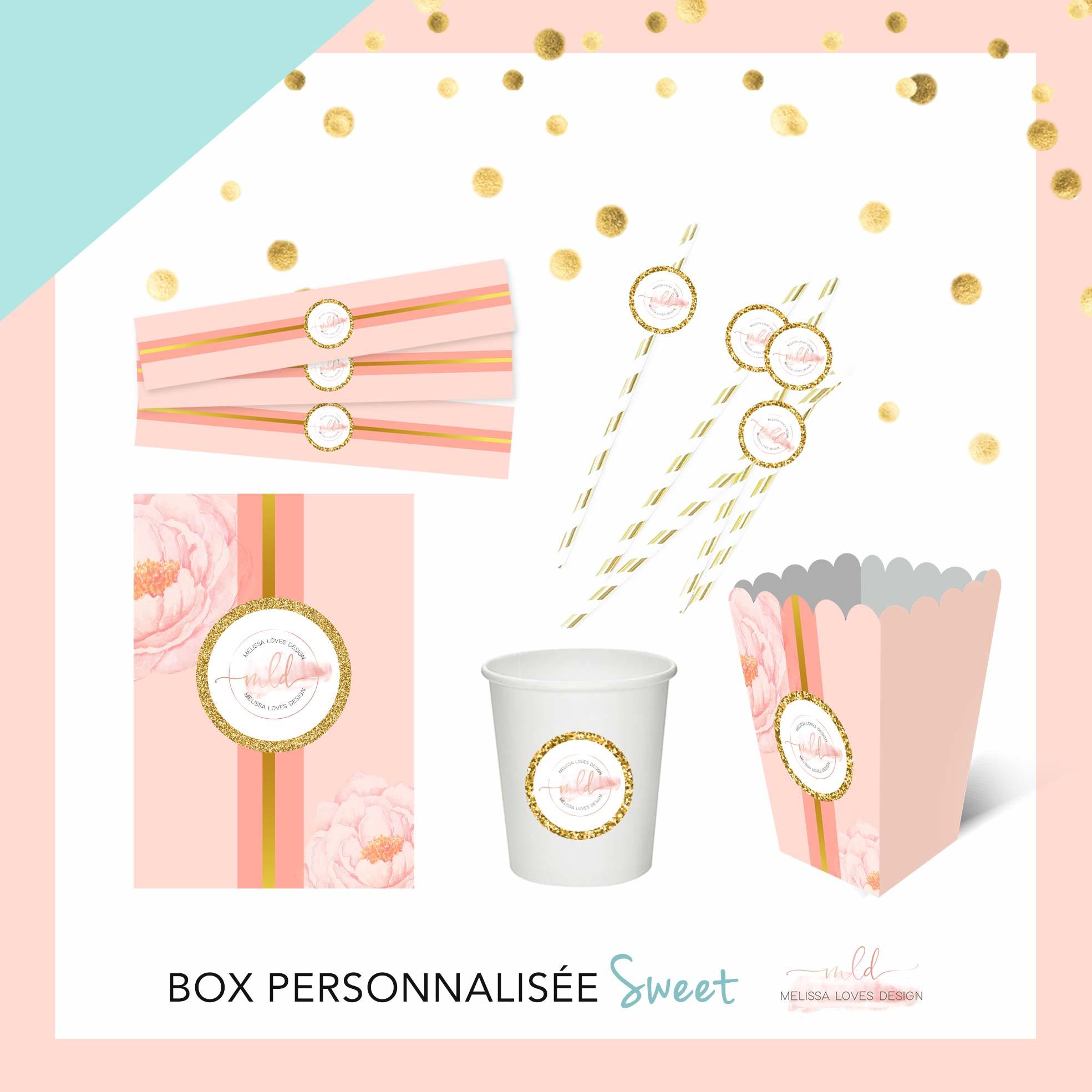 Box personnalisée sweet anniversaire/baptême/baby shower