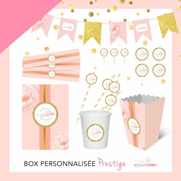 Box personnalisée prestige anniversaire/baptême/baby shower