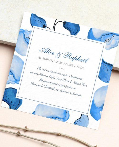 faire-part-mariage-carre-fleurs-bleues-vintage-recto